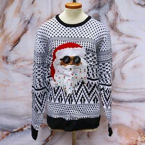 Carbon Reggae Santa Christmas Sweater Sz L